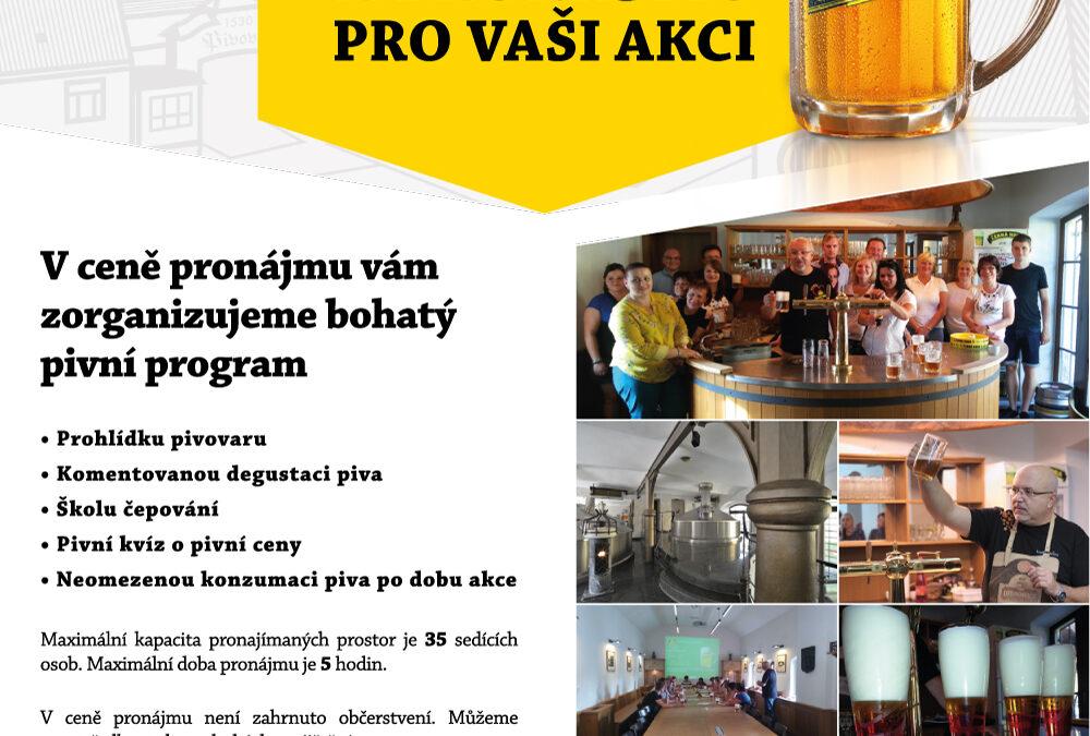 Pivovarské prostředí pro vaše akce